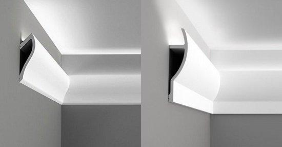 плинтус для подсветки потолка