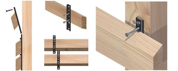 Схема крепежа планкена
