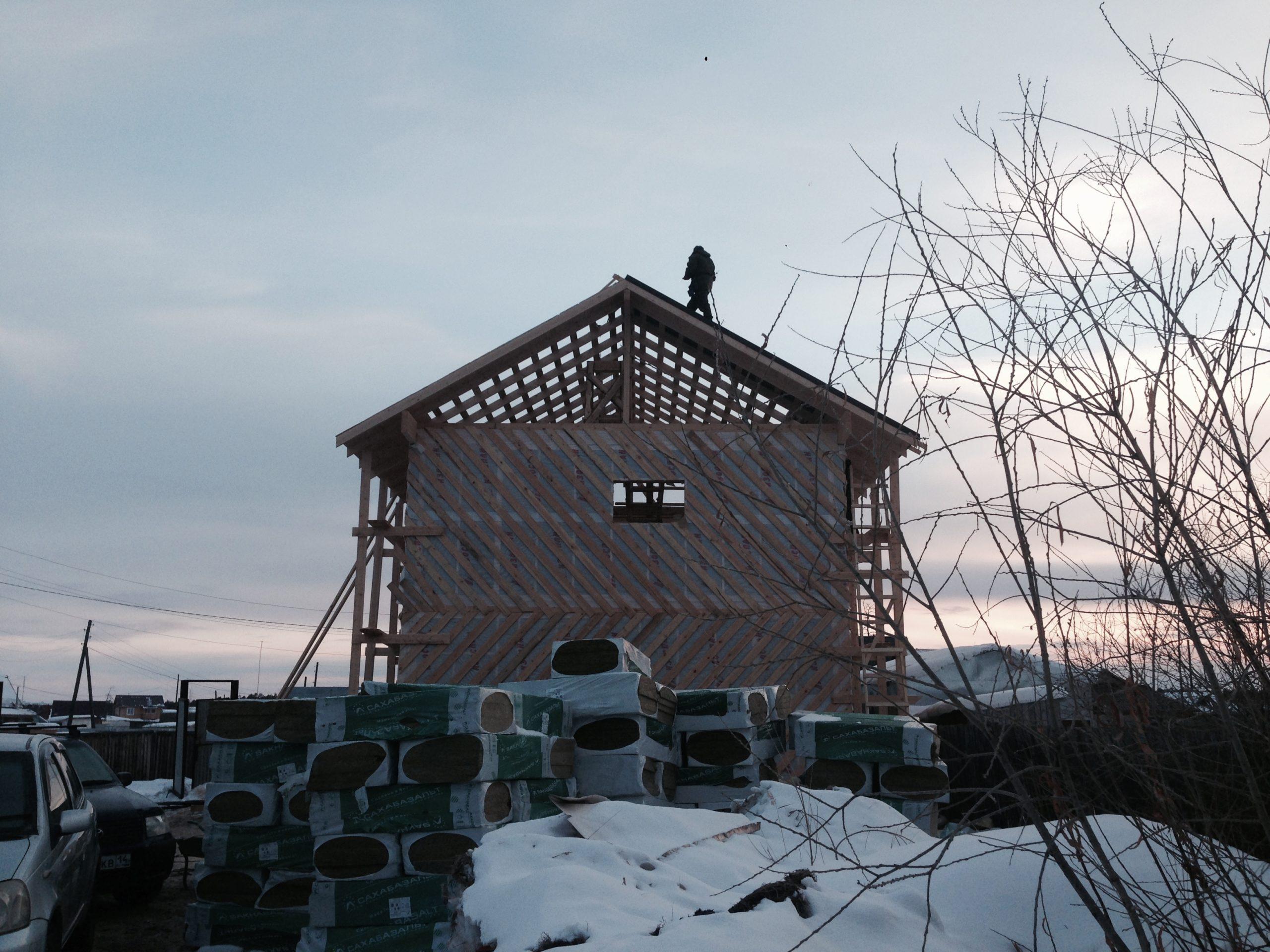 Каркасный дом - стены дома