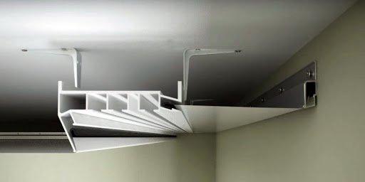 интегрированный карниз в натяжной потолок