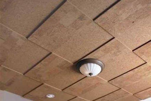 потолок из пробки
