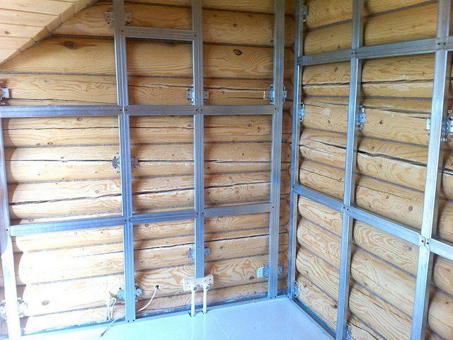 металлическая обрешетка для обшивки деревянных стен