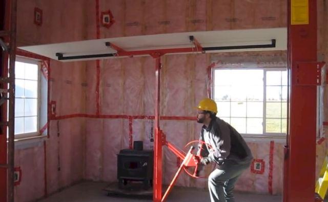 телескопический подъемник для крепления гкл к потолку