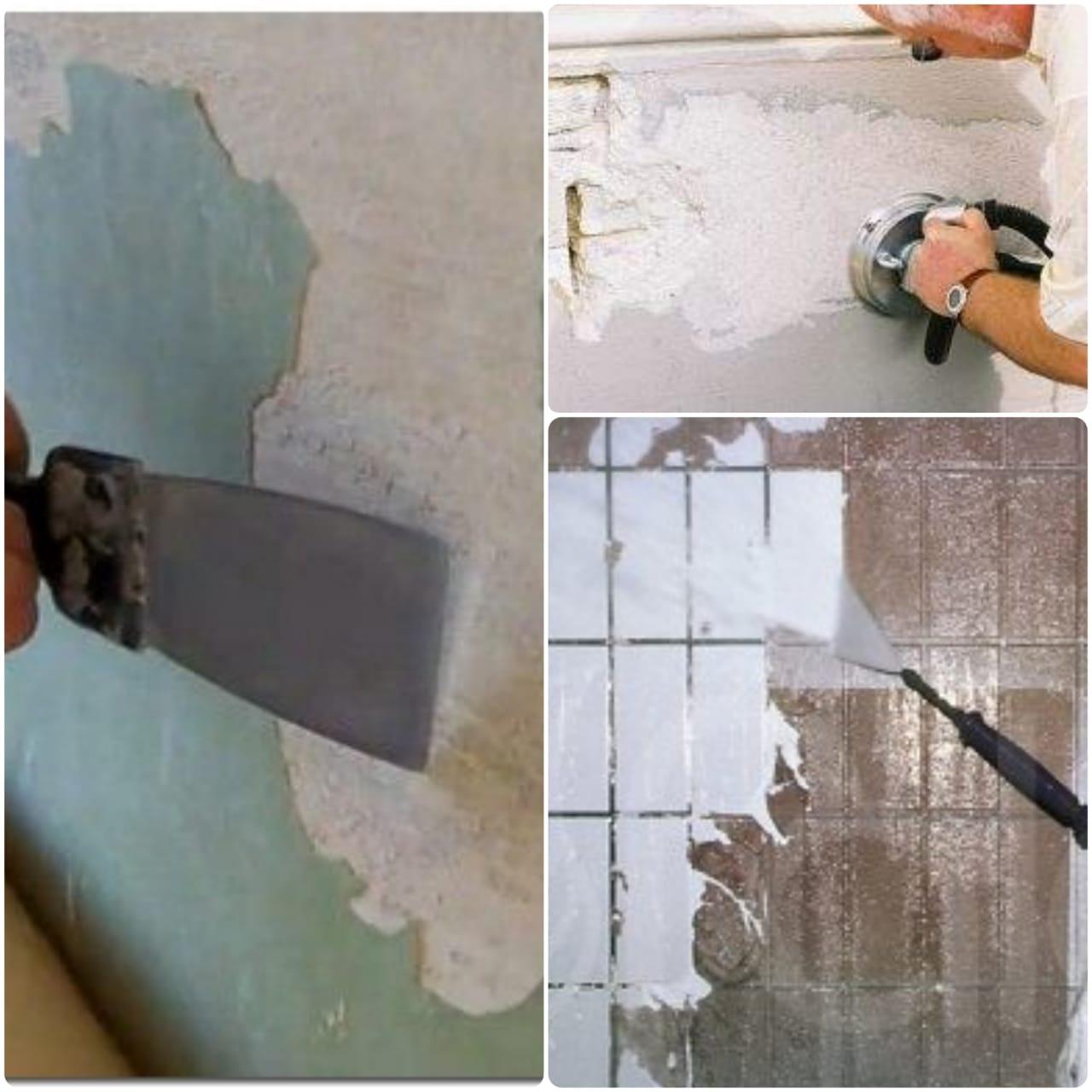очищение старой краски от стен