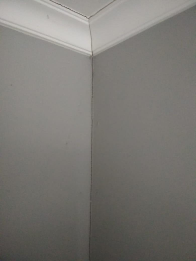 Трещина в углу стены из ГКЛ